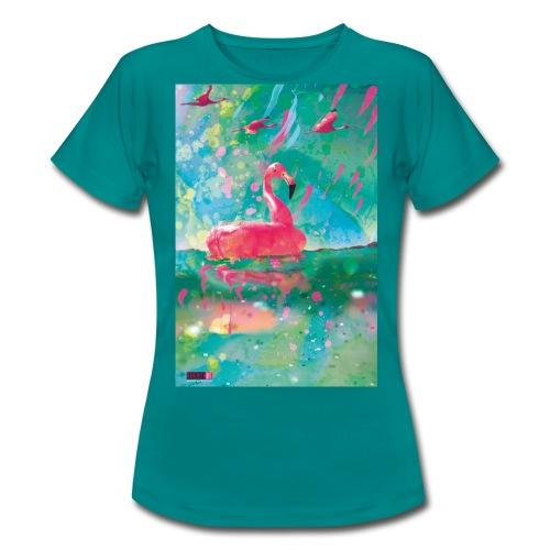05 Flamingo Summer Dream Poster Margarita Pop Art - Frauen T-Shirt