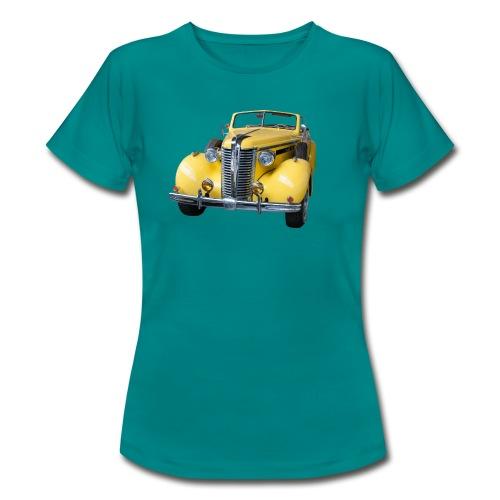 Gele klassieke auto1920 - Vrouwen T-shirt