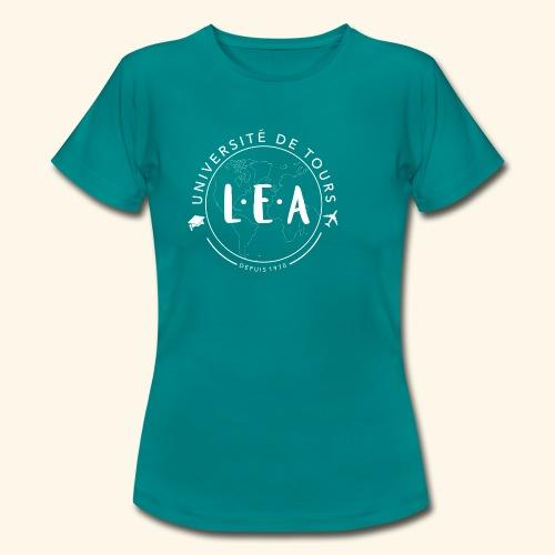 L.E.A Blanc - T-shirt Femme