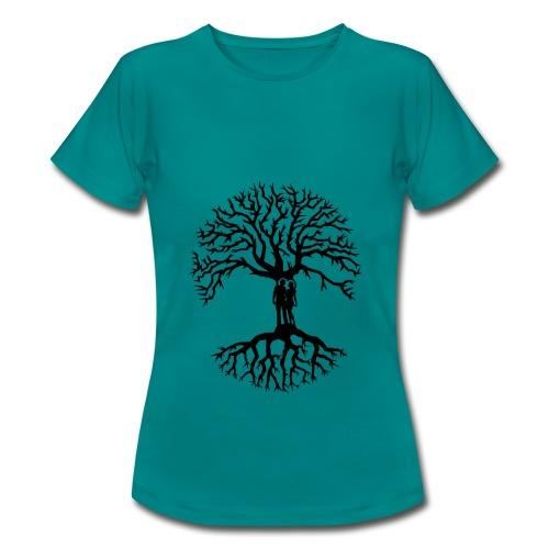 couple arbre de vie zen amour Tree of life noir - T-shirt Femme