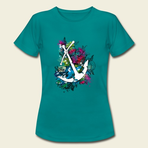 Echte Anker haben Kurven - Frauen T-Shirt