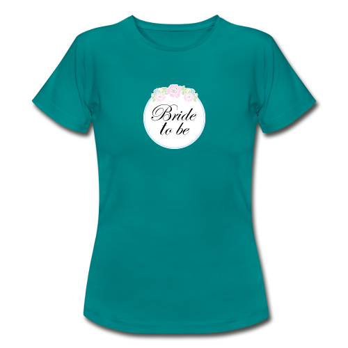 Floral Border Bride To Be - Women's T-Shirt