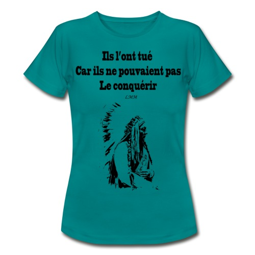 Crazy Horse maxi black png - T-shirt Femme