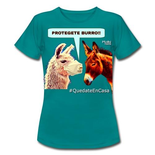 PROTEGETE BURRO - Camiseta mujer