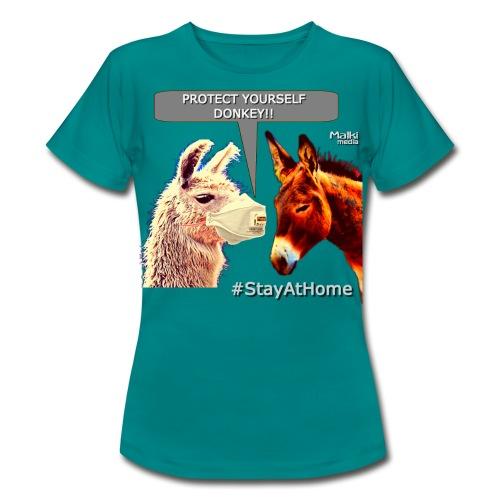 Protect Yourself Donkey - Coronavirus - Women's T-Shirt