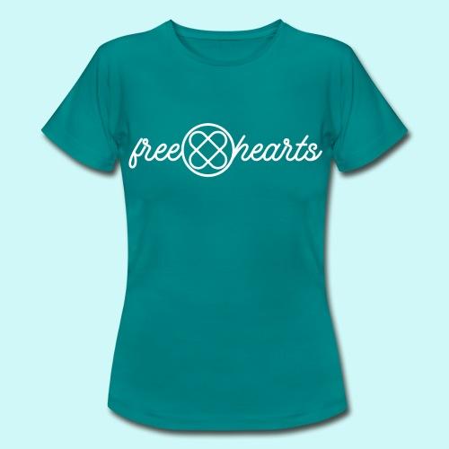freehearts white logo - Frauen T-Shirt