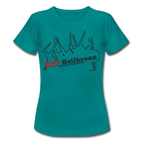 RCF Heilbronn - schwarzes Logo - groß - Frauen T-Shirt