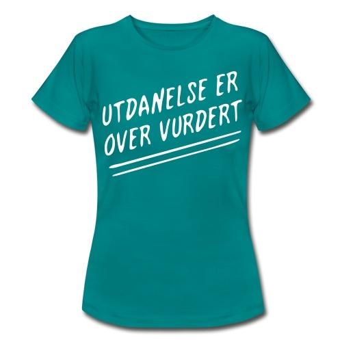 utdannelse01b - T-skjorte for kvinner