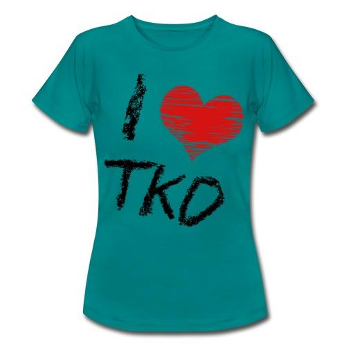 I love tkd letras negras - Camiseta mujer