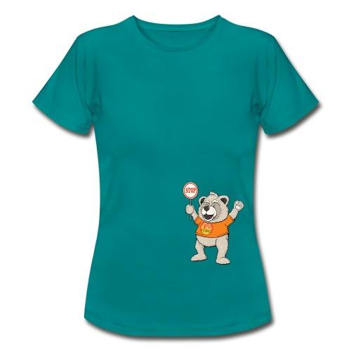 FUPO der Bär. Druckfarbe bunt - Frauen T-Shirt