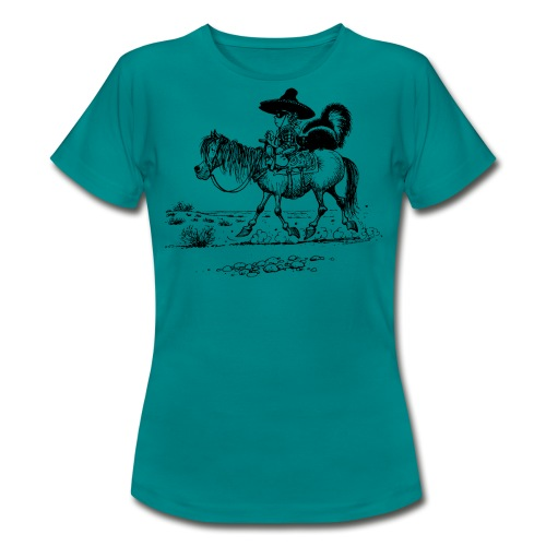 Thelwell Cowboy mit einem Stinktier - Frauen T-Shirt