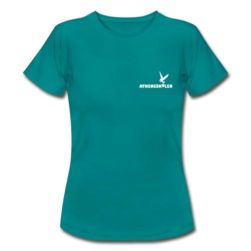 Hvidt logo - Dame-T-shirt