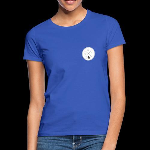 WSC Hipster-Logo rund weiß - Frauen T-Shirt