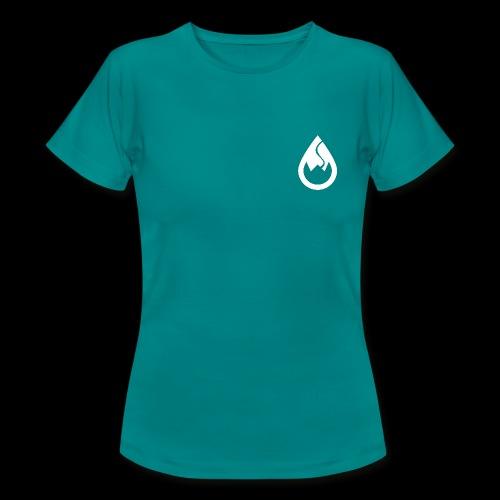 WS-Crew Tropfen-Logo weiß - Frauen T-Shirt