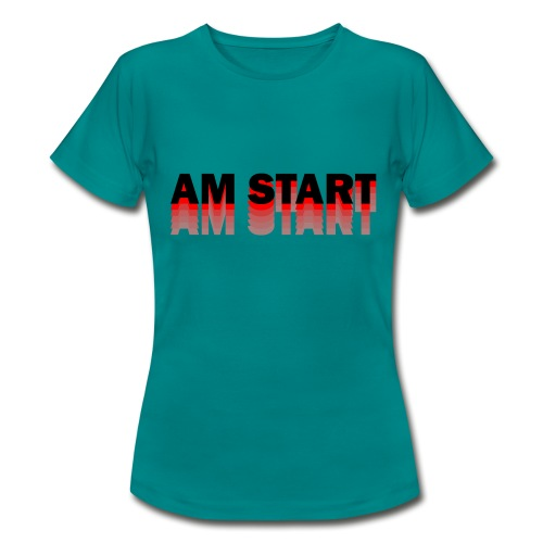 am Start - rot schwarz faded - Frauen T-Shirt