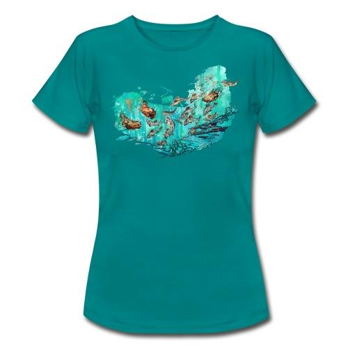 Fangtag // Bären fangen Fische (Morph-Art) - Frauen T-Shirt