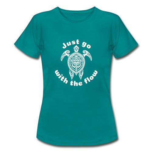 Hawaii Schildkröten-Tribal - Just go with the flow - Frauen T-Shirt