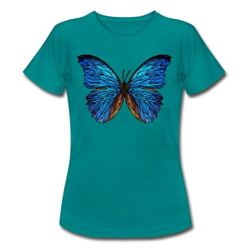 PAPILLON - LOW POLY (Outline) - T-shirt Femme