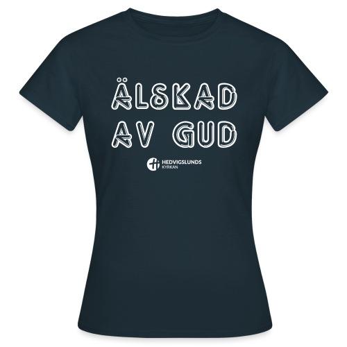 Älskad av Gud - T-shirt dam