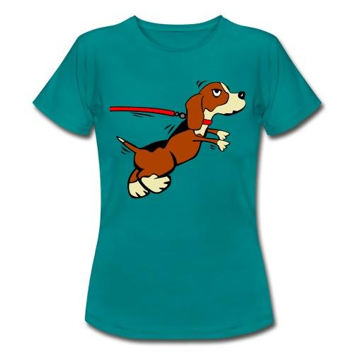 Hund der zieht - Frauen T-Shirt