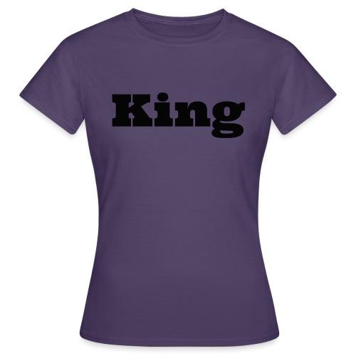 Snapback king rood/zwart - Vrouwen T-shirt