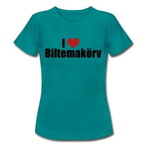 I Love Biltemakörv - T-shirt dam