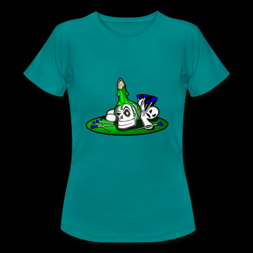 greenSkull svg - Frauen T-Shirt