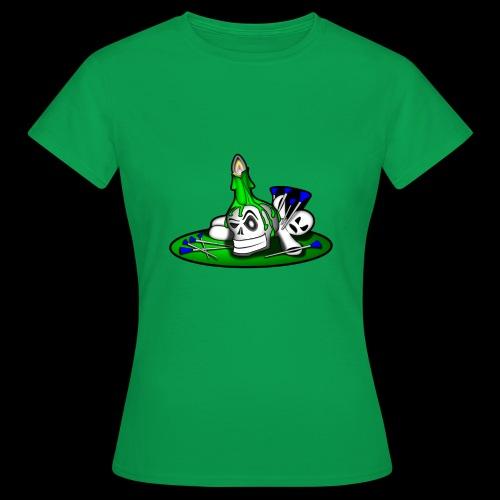 greenSkull svg - Frauen T-Shirt