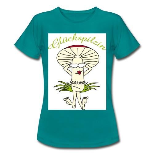 Glückspilzin - Frauen T-Shirt