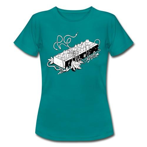 Modular Synthesizer - Black & White - Frauen T-Shirt
