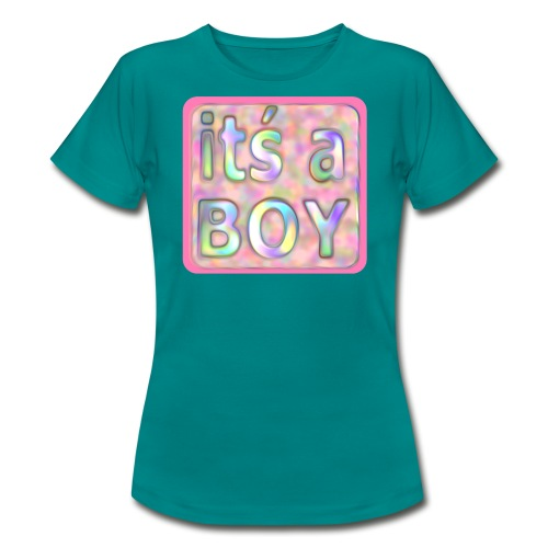 its a boy rosa text skylt - Women's T-Shirt