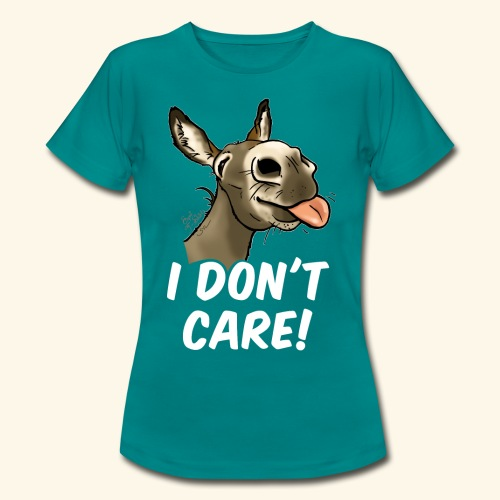 Ane I don't care! (texte blanc) - T-shirt Femme