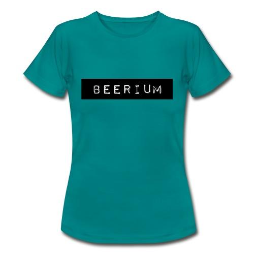 BEERIUM logo svart - T-shirt dam