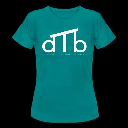 Logo_dTb_weiss_inv - Frauen T-Shirt