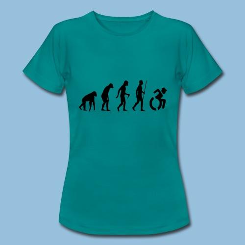 EvolutionWheelchair2 - Vrouwen T-shirt