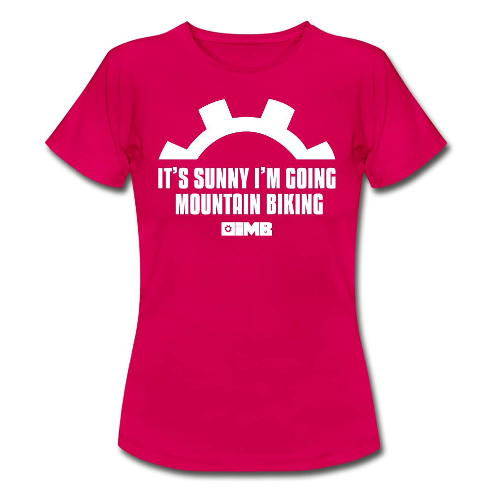 It's Sunny I'm Going Mountain Biking - Women's T-Shirt - ruby red