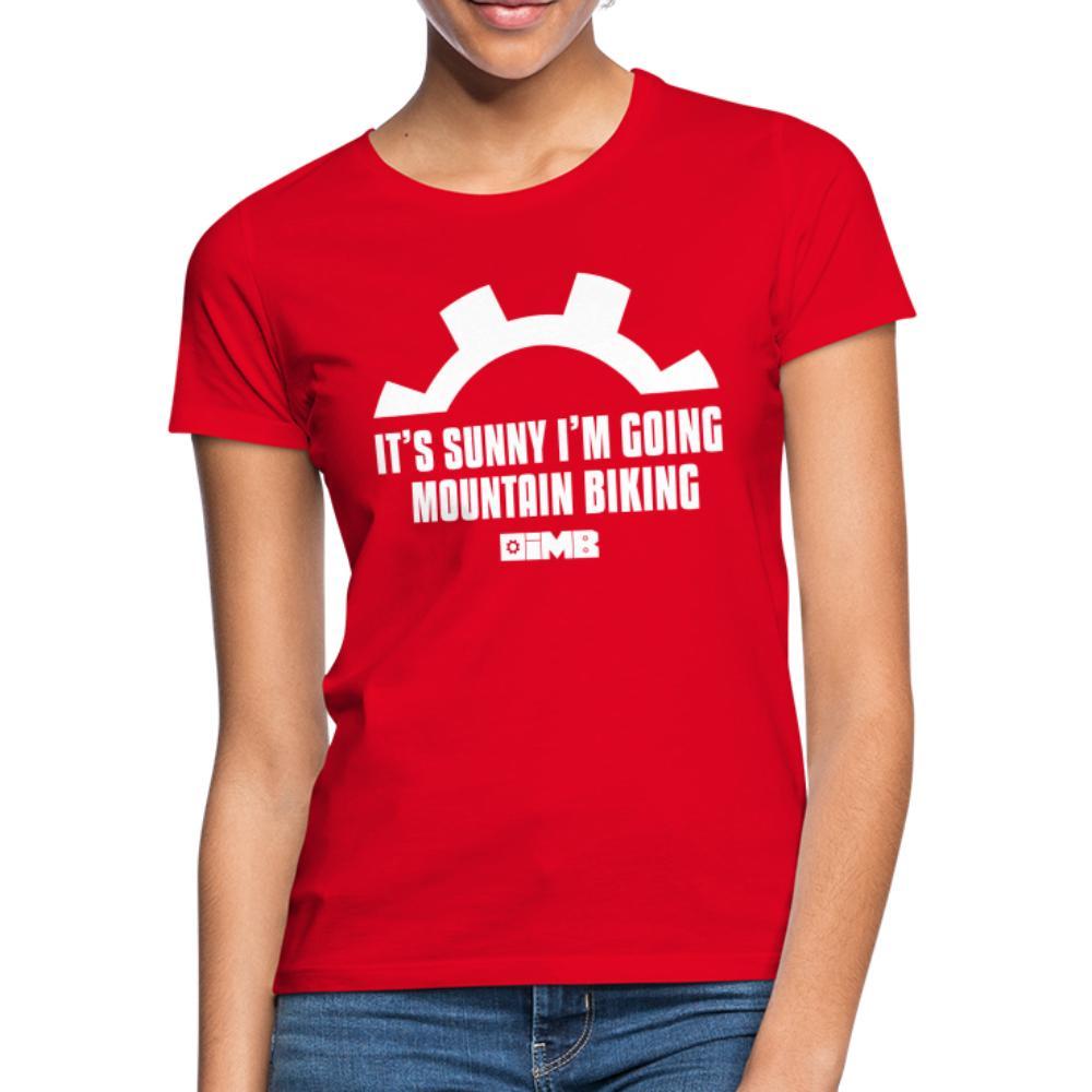 It's Sunny I'm Going Mountain Biking - Women's T-Shirt - red