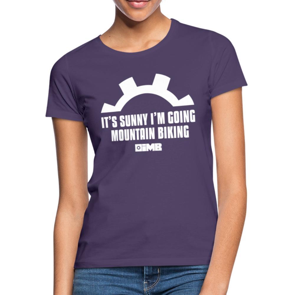 It's Sunny I'm Going Mountain Biking - Women's T-Shirt - dark purple