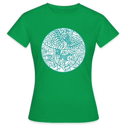 GlobeDesign-Green&W - Dame-T-shirt