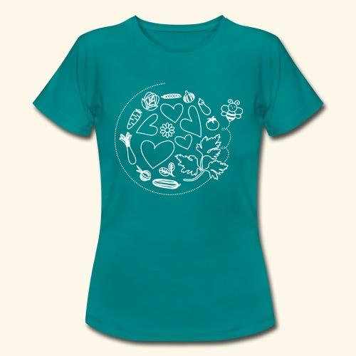 Abeja en el huerto - Camiseta mujer