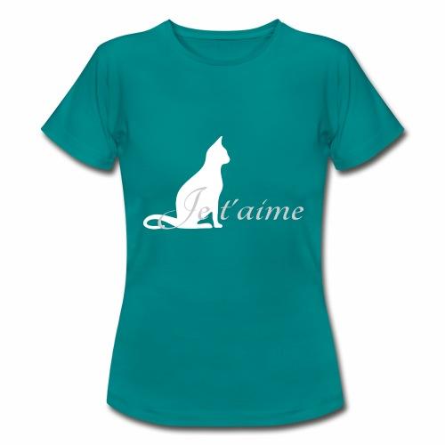 Chat blanc - Je t'aime - T-shirt Femme