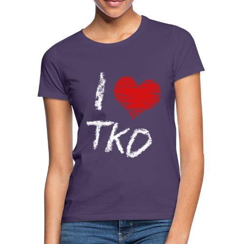I love tkd letras blancas - Camiseta mujer