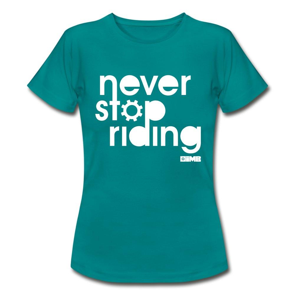 Never Stop Riding - Women's T-Shirt - diva blue