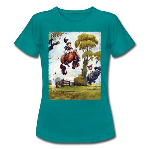 Thelwell Cartoon Pony Rodeo - Frauen T-Shirt