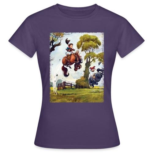 PonyRodeo Thelwell Cartoon - Women's T-Shirt