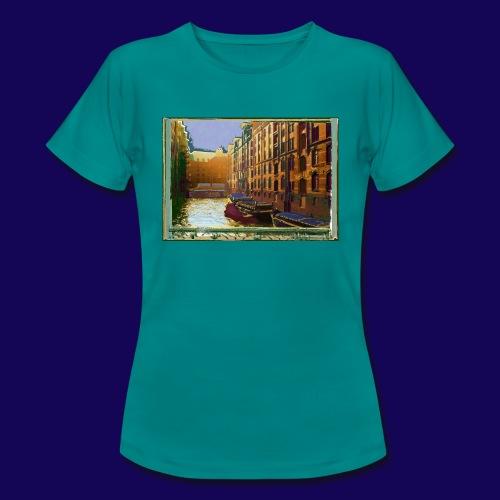 Hamburg Speicherstadt als Künstler-Impression - Frauen T-Shirt