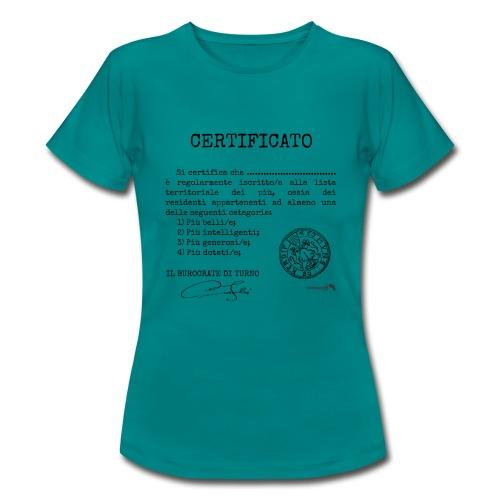 1.07 Certificato Piu Adulti (Aggiungi nome) - Maglietta da donna