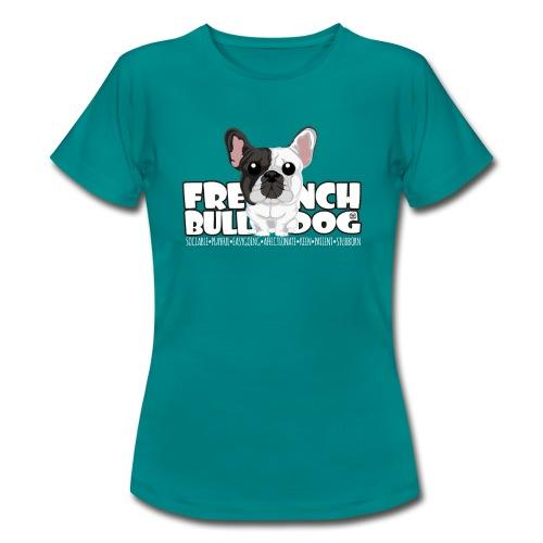 French Bulldog (Brindle Pied) - DGBigHead - Women's T-Shirt