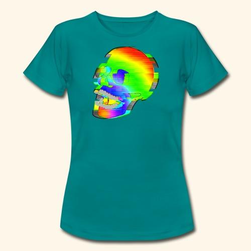 Glitch Skull - T-shirt dam