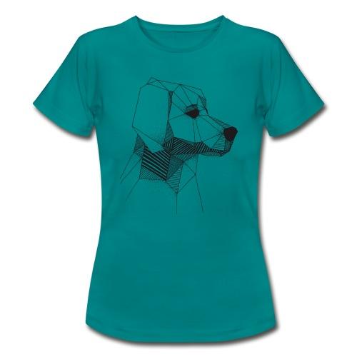 Golden Retriever Geometrisch Zwart - Vrouwen T-shirt